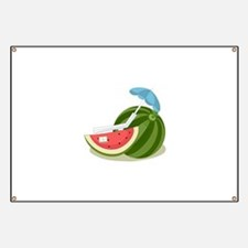 Watermelon Fruit Beach Vacation Banner