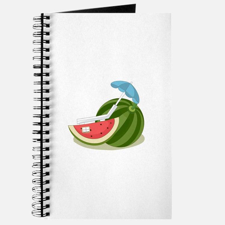 Watermelon Fruit Beach Vacation Journal