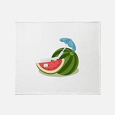 Watermelon Fruit Beach Vacation Throw Blanket