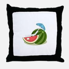 Watermelon Fruit Beach Vacation Throw Pillow