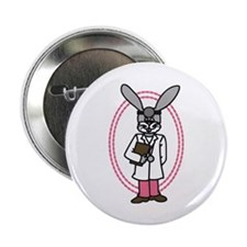 "Doctor Rabbit 2.25"" Button (10 pack)"