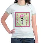 Baby Shower Pink Jr. Ringer T-Shirt