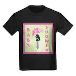 Baby Shower Pink Kids Dark T-Shirt