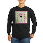 Baby Shower Pink Long Sleeve Dark T-Shirt