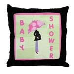 Baby Shower Pink Throw Pillow