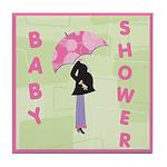 Baby Shower Pink Tile Coaster