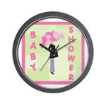 Baby Shower Pink Wall Clock
