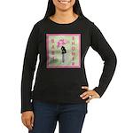 Baby Shower Pink Women's Long Sleeve Dark T-Shirt