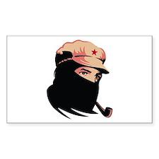 Zapatista Comandante Marcos Rectangle Decal