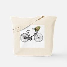 Cute Vintage bicycling Tote Bag