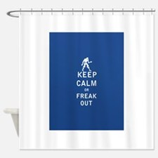 Keep Calm or Freak Out - FULL Shower Curtain