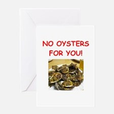 oysters Greeting Cards