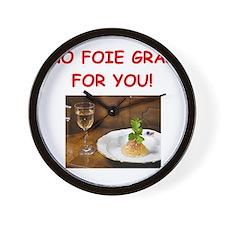 foie gras Wall Clock