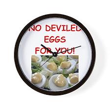deviled eggs Wall Clock