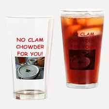 clam chowder Drinking Glass