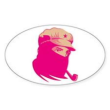 Zapatista Comandante Marcos Oval Decal
