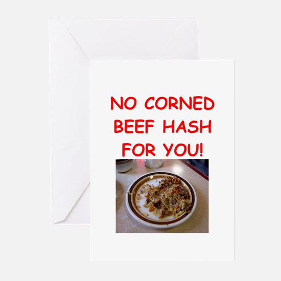 corned beef HASH Greeting Cards