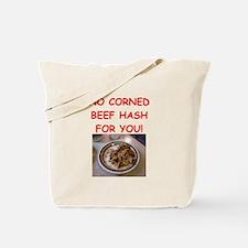 corned beef HASH Tote Bag