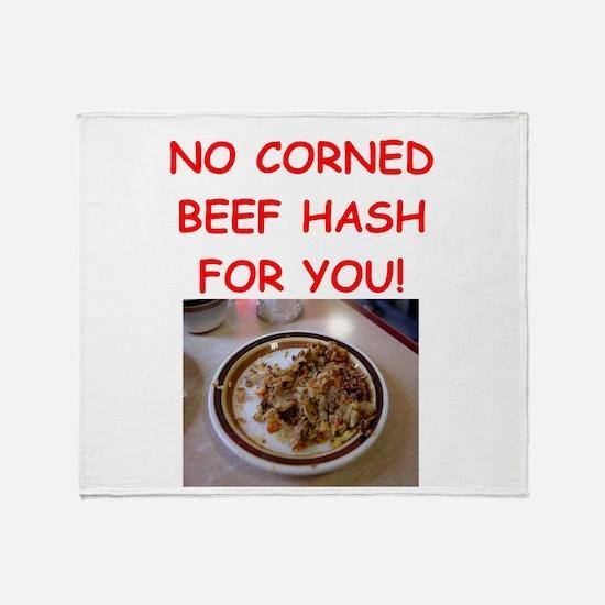 corned beef HASH Throw Blanket