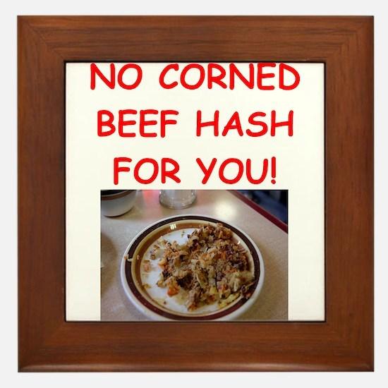 corned beef HASH Framed Tile