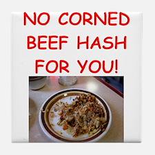 corned beef HASH Tile Coaster