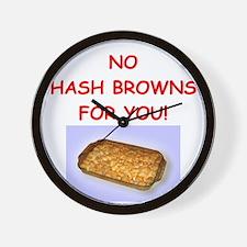 hash browns Wall Clock