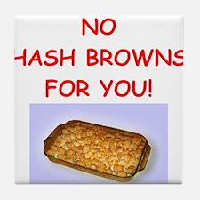 hash browns Tile Coaster