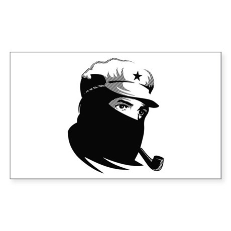 Zapatista Comandante Marcos Rectangle Sticker
