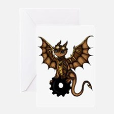 Steampunk Dragon Greeting Cards