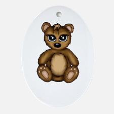cute Teddy Ornament (Oval)