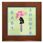Baby Shower Blue Framed Tile
