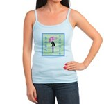 Baby Shower Blue Jr. Spaghetti Tank