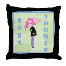Baby Shower Blue Throw Pillow