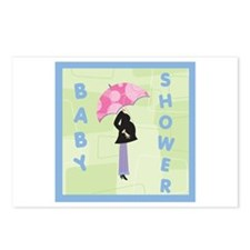 Baby Shower Blue Postcards (Package of 8)