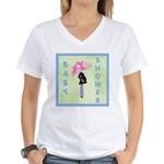 Baby Shower Blue Women's V-Neck T-Shirt