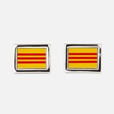 South Vietnam Flag Rectangular Cufflinks