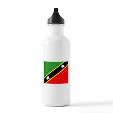St Kitts Nevia Flag Water Bottle