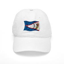Wavy American Samoa Flag Baseball Cap