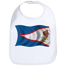 Wavy American Samoa Flag Bib