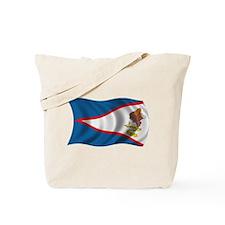 Wavy American Samoa Flag Tote Bag