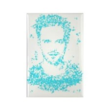 Sky Blue Jesse Rectangle Magnet