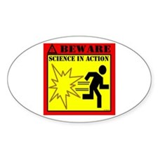 MYTHBUSTERS SCIENCE IN ACTION Oval Decal