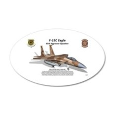 F-15C Eagle with Shadow Wall Decal
