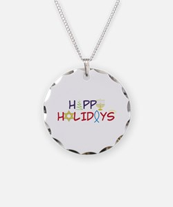 Happy Holidays Necklace
