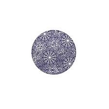 Blue Lace Mini Button