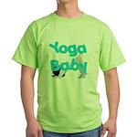 Yoga Baby #1 Green T-Shirt