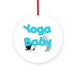 Yoga Baby #1 Ornament (Round)
