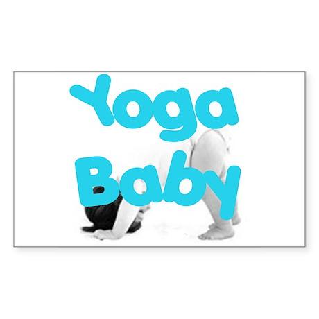 Yoga Baby #1 Rectangle Sticker