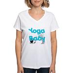 Yoga Baby #1 Women's V-Neck T-Shirt