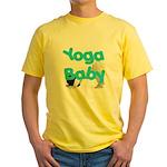 Yoga Baby #1 Yellow T-Shirt